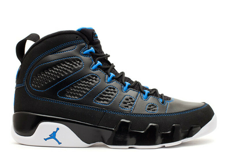 2012 Nike Air Jordan 9 IX Retro Photo Blue Size 8.5. 302370-007 1 2 3 4 5