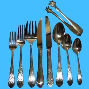 Reed-amp-Barton-HAMMERED-ANTIQUE-Glossy-Flatware-Silverware-CHOICE