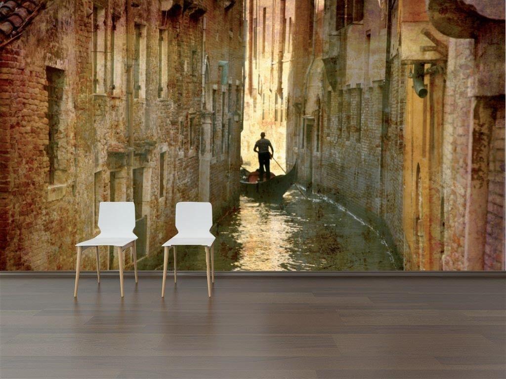3D Schmale Wasserstraße Wasserstraße Wasserstraße 73 Tapete Wandgemälde Tapete Tapeten Bild Familie DE | Sorgfältig ausgewählte Materialien  | Viele Sorten  |  fda738