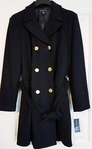 International Deep 706257119303 Coat Large Concepts Black Inc Doppiopetto Car 6d009m899 gwdgSX