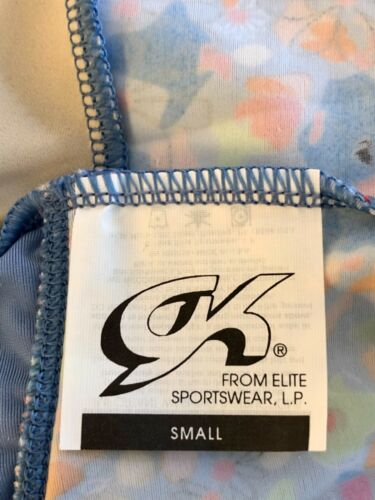 Details about  /GK ICE SKATE GIRLS SMALL CAP SLV MATTE TRICOT BLUE VELVT FLORAL PRINT DRESS CS
