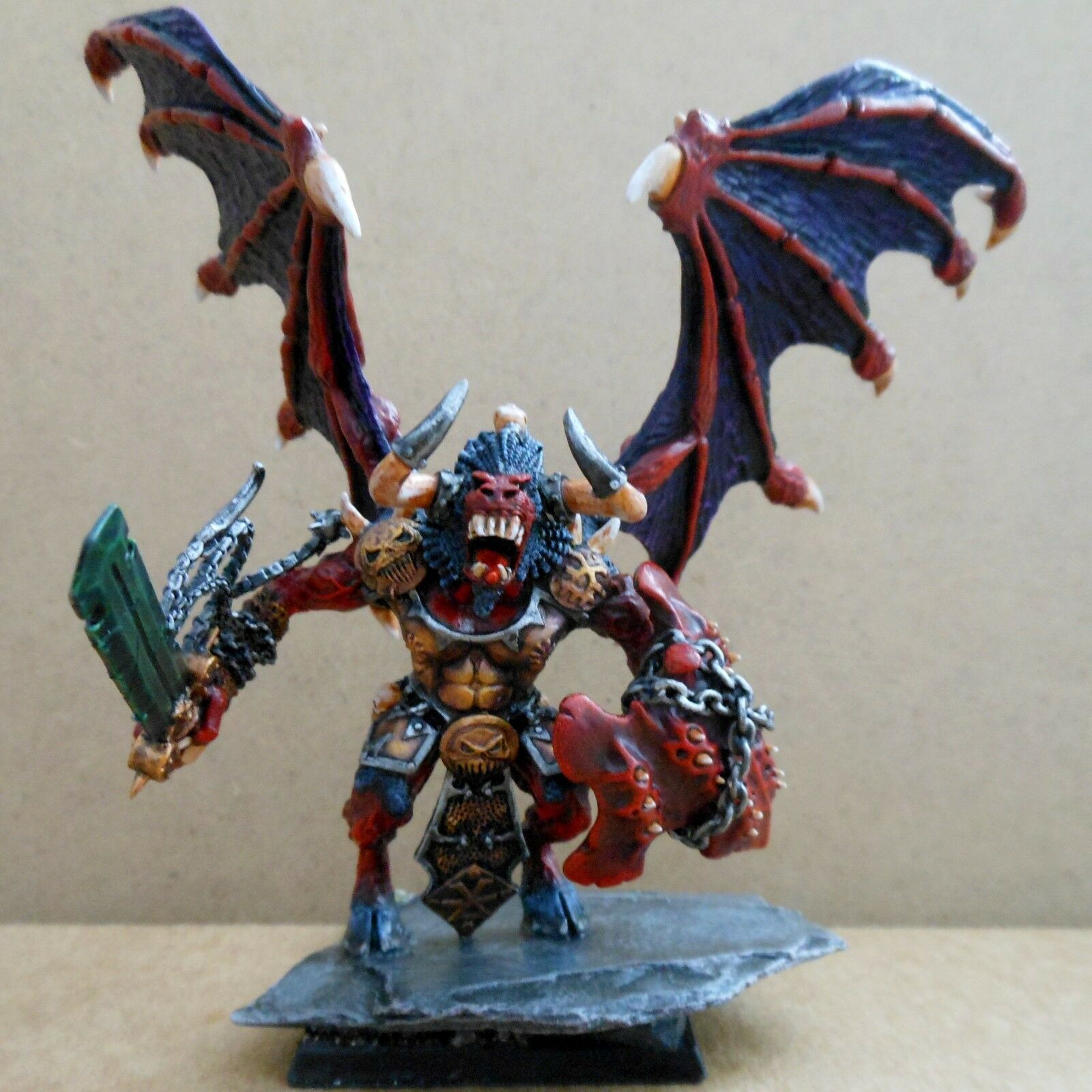 1999 Chaos Blood Thirster Greater Daemon of Khorne Citadel Pro Painted Demon 40K