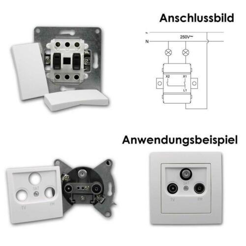 """Set Flair /""""Einfamilienhaus/"""" Steckdose Rahmen Schalter UP weiß 95-teilig"""