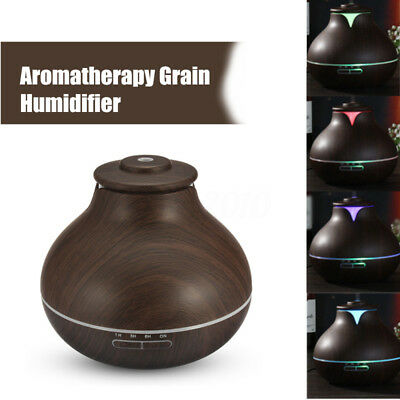 Wood Grain LED Essential Oil Aroma Diffuser Ultrasonic Humidifier Aromatherapy