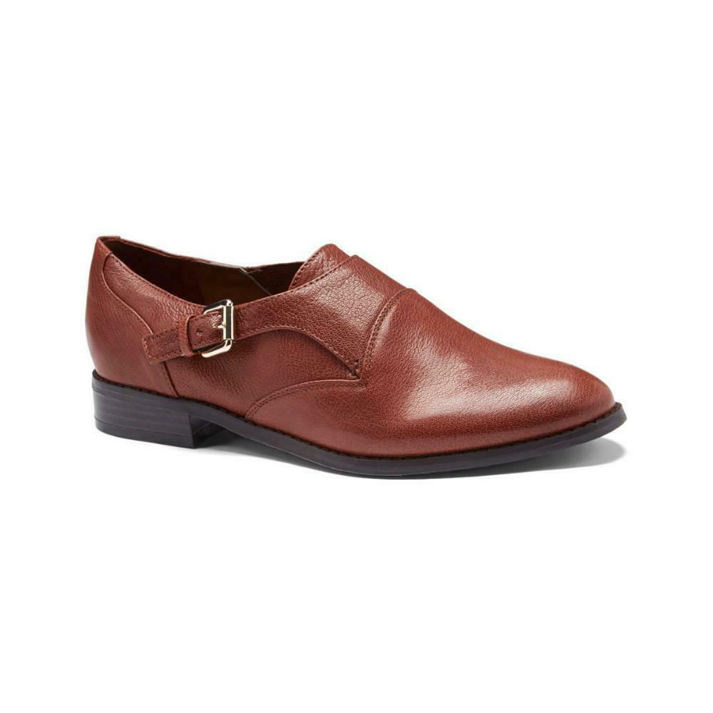 Nine West Wouomo Feneley Marronee Leather Mokstrap Flat
