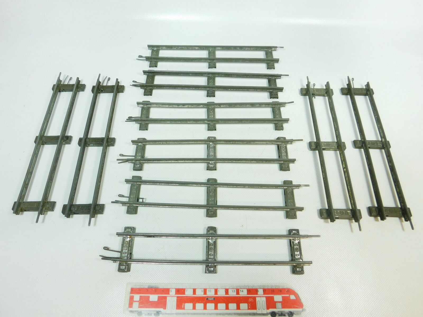 BR843-1 x Märklin Escala 0 vía   Piezas de vía Recto (26cm) para