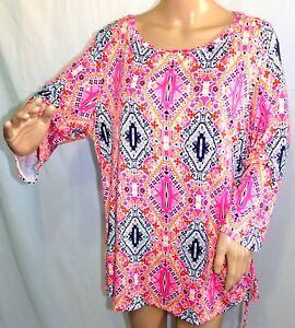 Damen Langarm Übergröße Schulter Bluse Tunika Vintage Oberteil Tops T-shirt Hemd