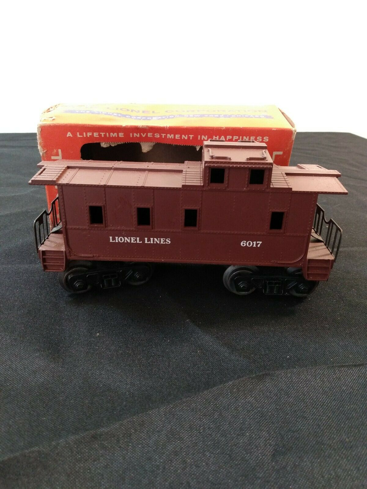 ORIGINALE del dopo guerra Lionel 60171 VAGONE CON scatola 6017 Marronee OTTIMO STATO TRENI