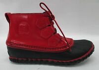 Sorel Womens Out N About Rain Boots 1735301 Burnt Henna/black Size 10