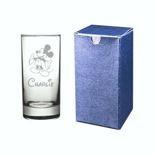 Mickey Mouse Laser Engraved Personalised Half Pint Glass With Board Gift Box