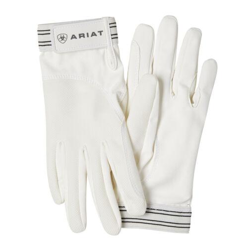 Ariat Tek Grip Riding Gloves White