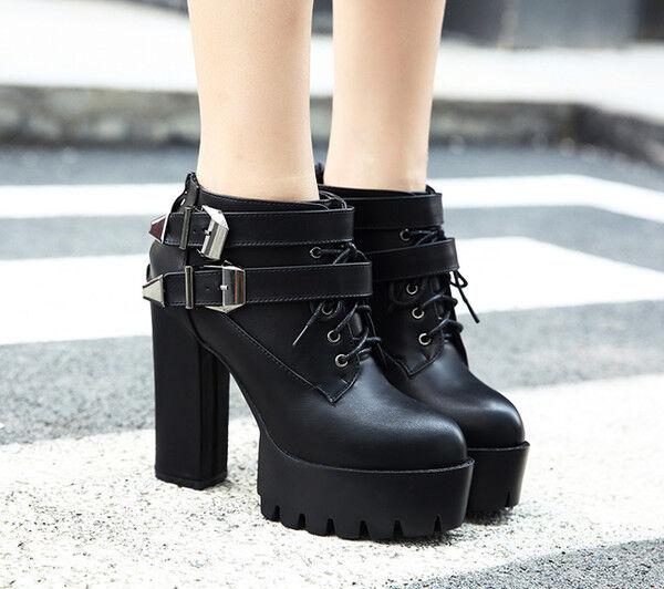 botas elegantes bajo cómodo 12 cm negro cabello como piel CW768