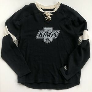 Los-Angeles-Kings-CCM-Throwback-Hockey-Jersey-Style-Crew-Black-Sweatshirt-XL