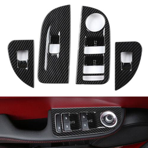 4PCS ABS Fensterheber Schalter Rahmen Trim Abdeckung Für Alfa Romeo Giulia 2017