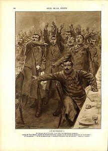 WWI-Fourragere-Rouge-Legionaires-Espagnols-Y-NO-PASARAN-Rameil-A-ILLUSTRATION