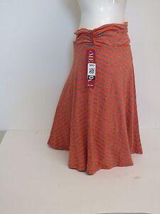 Women-039-s-Merona-Orange-Chevron-507614-Skirt-Medium