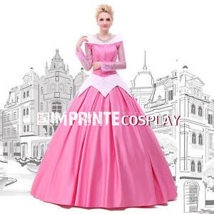 Image is loading Pink-Princess-Aurora-Dress-Adult-Sleeping-Beauty-Cosplay-  sc 1 st  eBay & Pink Princess Aurora Dress Adult Sleeping Beauty Cosplay Costume ...