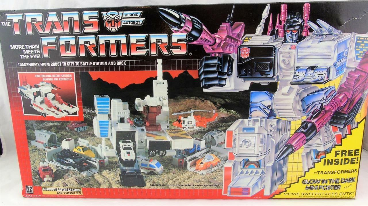 Transformers Original G1 1986 Metroplex Complete Unused w w w  Poster Offer Box 65b700