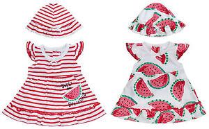 Bambine-Tutina-Abito-e-Cappello-Set-Anguria-Design-Neonato-a-12-Mesi