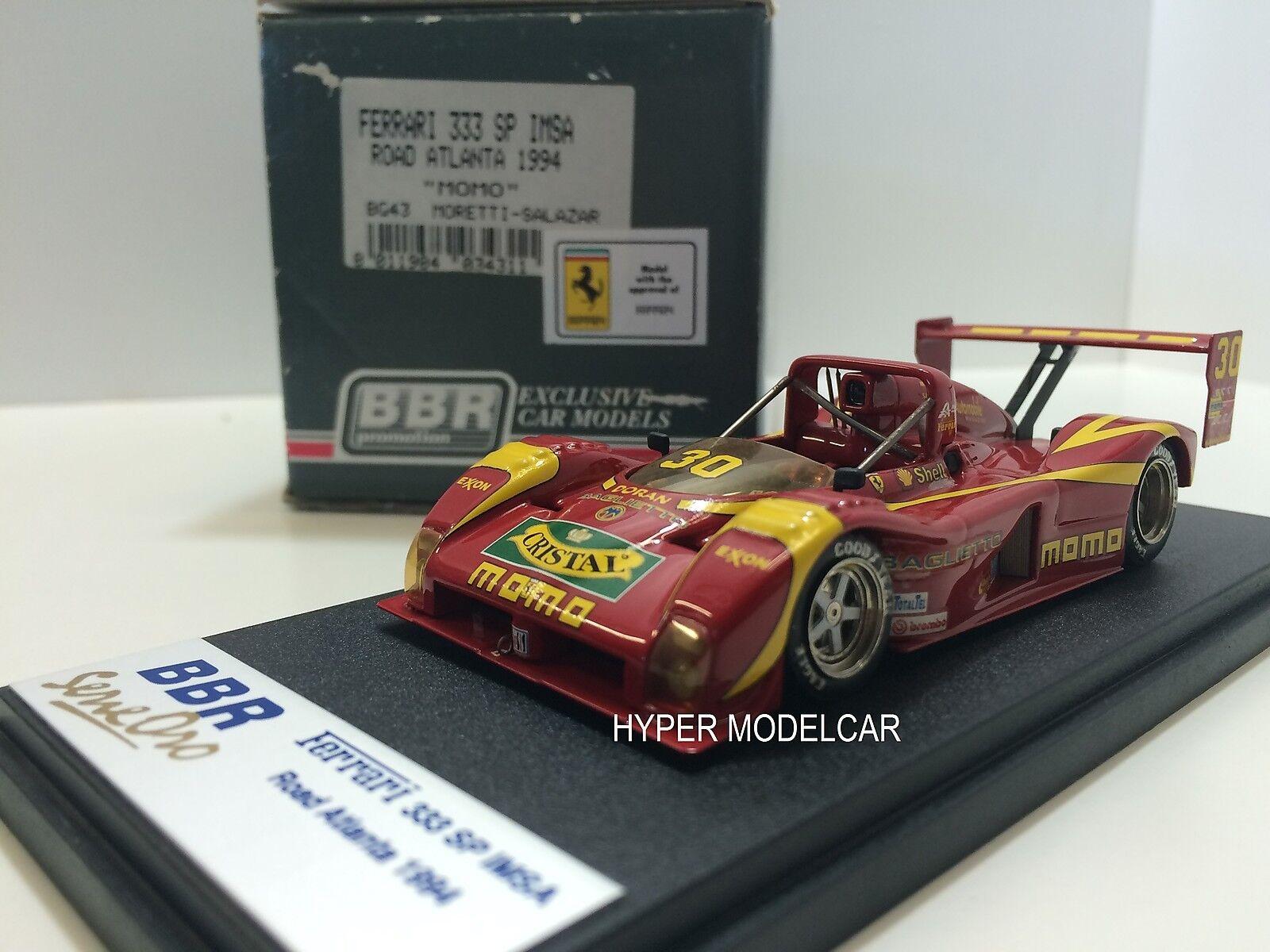 BBR MODEL 1 43 Ferrari 333 Sp 94 IMSA Road Atlanta 1994  MOMO  Art. BG43