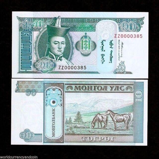 MONGOLIA 20 TUGRIK 2002 P 63 UNC