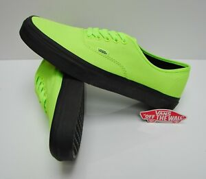23a889ef58f4 Image is loading Vans-Authentic-Black-Outsole-Neon-Green-Black-VN0A348ALVX-