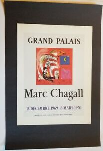 Marc-Chagall-The-Rainbow-Mourlot-Poster-offset-Lithograph-9-5-x-12-5-1975