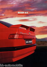 Prospekt Alfa Romeo 33 Boxer 16V 1990 Autoprospekt broschyr brosjyre brochure