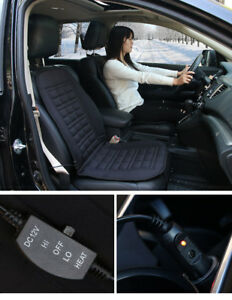Set of 2 Car Cushion Warmer Heated Seat Heater Kit Carbon Fiber with ...