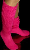 Fushia Slouch Knee Thigh Hi Calf Socks Hooters Uniform Halloween Costume Large
