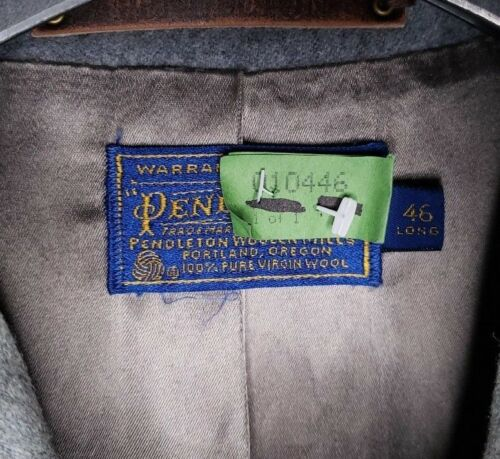 Usa maat Pendleton jas wol Mens Made 46 grijze Stoom gereinigde knop 100maagd f7IgYby6v