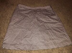 Womens-Fairway-amp-Greene-Golf-Skort-Skirt-Size-10-White-Brown