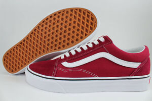 clearance new photos most fashionable Details about VANS OLD SKOOL RUMBA RED/WHITE BURGUNDY MAROON CANVAS SUEDE  US MEN WOMEN SIZES
