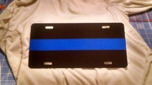 Law Enforcement Thin Blue Line  License Plate Police  Patriotic USA Version