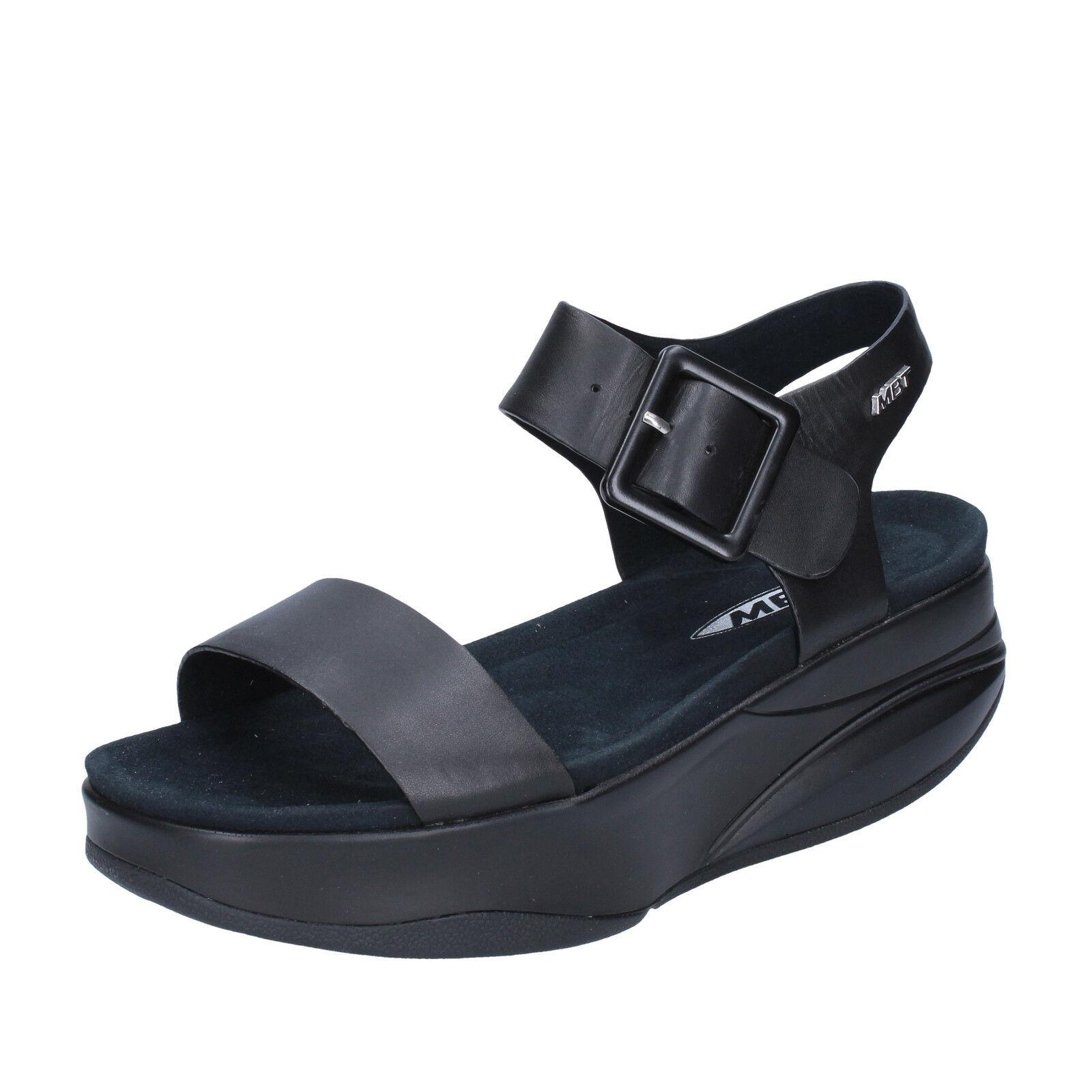 Para mujeres Zapatos Zapatos Zapatos MBT 10 10,5 (UE 41) Sandalias de rendimiento de Cuero Negro BX885-41  compra en línea hoy