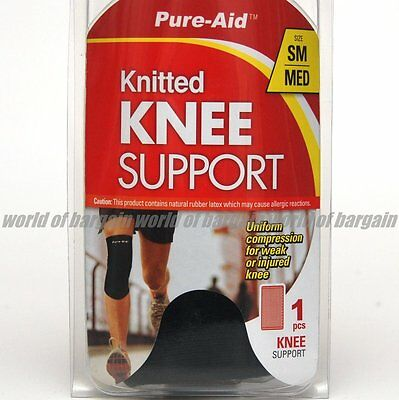 Sport PURE-AID KNEE SUPPORT Leg Strap Band Stretch Wrap Athletic Pads Brace S015