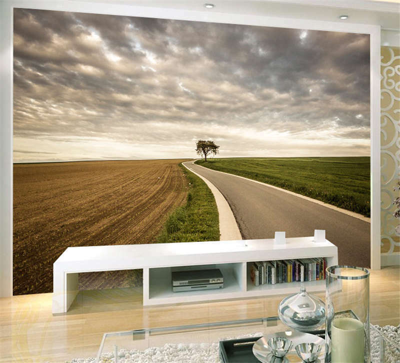 Perfect Country Road Full Wall Mural Photo Wallpaper Print Kids Home 3D Decal