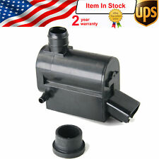 Twin Outlet Windscreen Washer 3 pin Pump Black Supply for Toyota YARIS HIACE