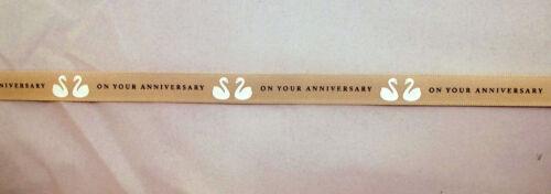 "5//8/"" 1 2 5m Congratulations Wedding Anniversary Printed Grosgrain Ribbon 16mm"