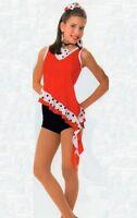 Street Style Tap Dance Costume Velvet Shorts/spandex Top Child X-small