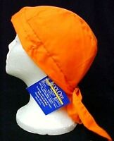 Kool Off Chemo Head Cover Cap Hat Durag Cancer Solid Orange Adult One Size