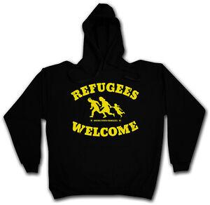 Refugees Sweat Hooded Flüchtlinge Asyl Pro Hoodie I Welcome Kapuzenpullover Demo qUyrOxTqg