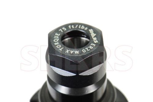 """Shars  CAT40 ER20 3/"""" HEX Collet Chuck Tool Holder Balanced G2.5 20000RPM NEW"""