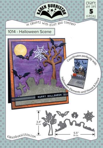 Halloween Scene Craft DIE SET 5 pieces Wafer Thin Karen Burniston 1014