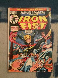 MARVEL-PREMIERE-15-1st-IRON-FIST-Has-Marvel-value-stamp-Show-Coming-Marvel