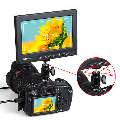 "Koolertron Protable 1080P 7""on Camera/Crane Jib Field Monitor DSLR HDMI VGA"