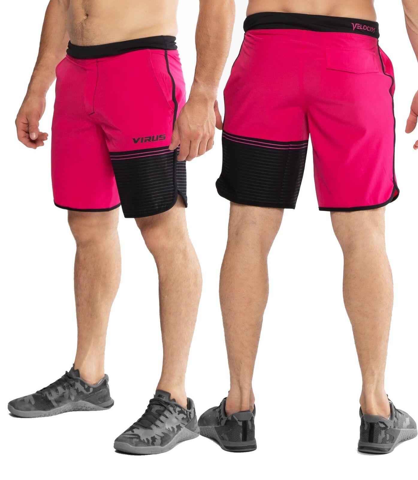 Virus Herren Velocity Himbeere Shorts St5, Fitness, Crossfit, Workout, Laufen,
