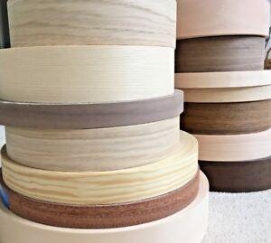 Pre glued Wood Veneer Edging Tape @ @ 18 mm, 22 mm, 30 mm, 40 mm, 50 mm @ @ Free Postage  </span>