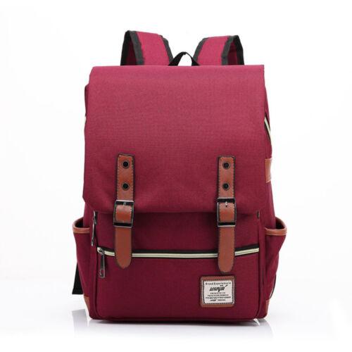 New Women Men Canvas Laptop Backpack School Travel Rucksack Satchel Shoulder Bag