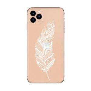 Coque Iphone 12 PRO MAX plumes blanc